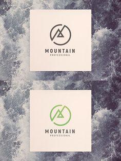 MOUNTAIN LOGO Best Logo Design, Branding Design, Graphic Design, Logo Garden, Edge Logo, Logo Sketches, Black And White Logos, Mountain Logos, Picture Logo