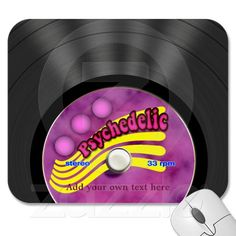 Make your desk your unique space with a new Music mouse pad from Zazzle! Mousepad, Vinyl Records, Psychedelic, Ads, Trippy