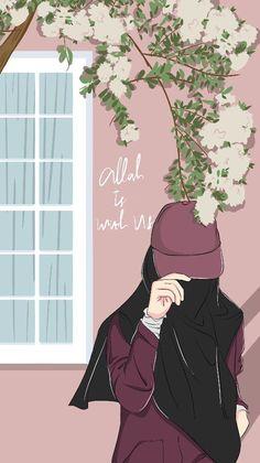 Cartoon Girl Drawing, Girl Cartoon, Cartoon Art, Cover Wattpad, Muslim Pictures, Hijab Drawing, Islamic Cartoon, Hijab Cartoon, Islamic Girl