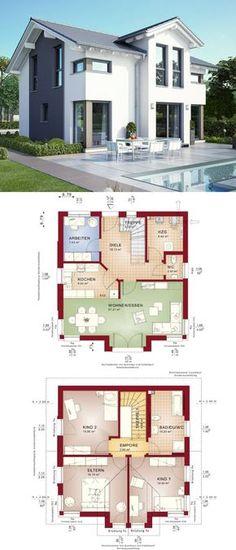 Klassisches Einfamilienhaus mit Satteldach Erker und Loggia - Haus - bien zenker haus