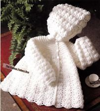BABY HOODED JACKET / 4ply - 3 to 12 months .- baby crochet pattern