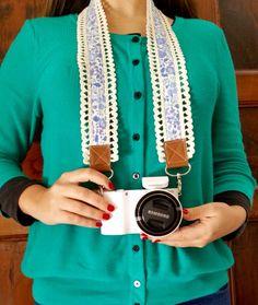 Correa para cámaras, ideal para personalizarlas con estilo :)