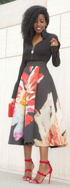 Vezi cum se poartă fusta midi – galerie foto | De Gen Feminin