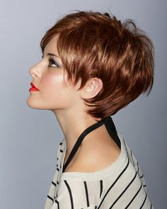 Long pixie and love the color :)