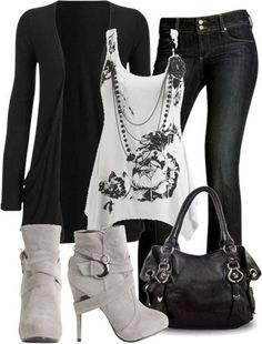 Gorgeous Black and White Casual Outfit