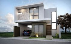 Our Top 10 Modern house designs – Modern Home Modern House Facades, Modern House Plans, Small House Plans, Modern House Design, Modern Architecture, Casa Loft, Modern Mansion, House Elevation, Facade House