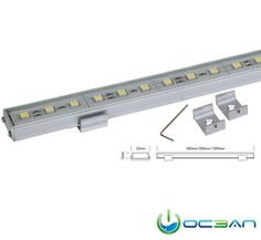ALU STRIPS MONO SMD are perfect for indirect and background lighting e.g. for fair or shop applications. The LEDs are moulded in an aluminium profile. Installation with two metal clamps. ■ dimmable or DMX 512 controllable by RGB DMX power supplies/controller