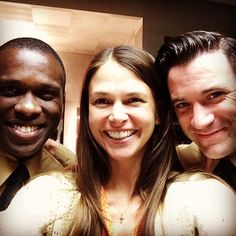 Sutton Foster, Colin Donnell, Joshua Henry before The View