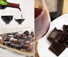 Chocolate + wine!