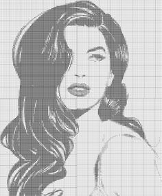 This Pin was discovered by Laila Hougaard Christiansen. Discover (and save! Bead Loom Patterns, Easy Crochet Patterns, Cross Stitch Patterns, Portrait Au Crayon, Marilyn Monroe Painting, Stitches Wow, Cross Stitch Silhouette, Blackwork Embroidery, Embroidery Flowers Pattern