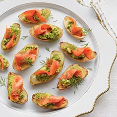 Fingerling Potatoes with Avocado and Smoked Salmon | MyRecipes.com