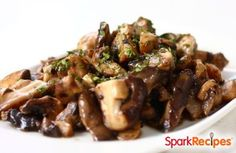 Sauteed Garlicky Mushrooms Recipe by FRANCLYN via @SparkPeople