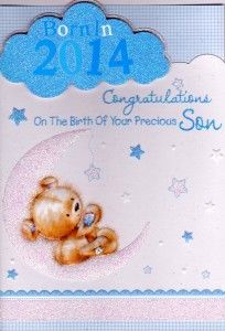Gorgeous Born In 2014 Card