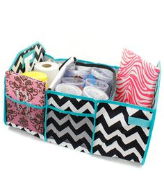 Chevron Black and Turquoise Zig Zag by PigtailPuddleJumpers, $38.95