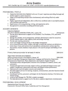 chronological sample resume executive administrative assistant - Resume Examples For Administrative Assistant