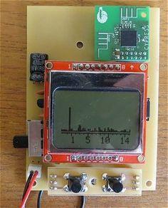Arduino 2.4 GHz Spectrum Analyser