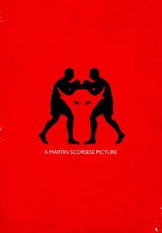 Raging Bull (1980) ~ Minimal Movie Poster by Ieuan Lewis ~ Scorsese Series #amusementphile