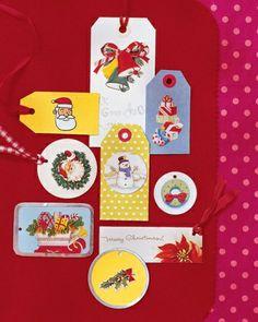 Holiday Card Gift Tags