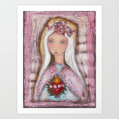 Buy Sacred Love Art Print by florlariosart. Worldwide shipping available at Society6.com. Just one of millions of high quality products available.