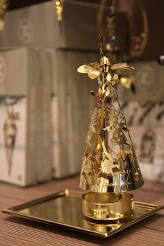 świecznik złoty - wirująca wróżka