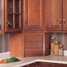"""Omega National Products 24"""" Corner Appliance Garage - Maple A0100MUF1  