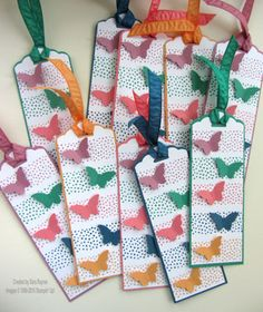 In color bookmark batch, using supplies from Stampin' Up! www.craftingandstamping.com #stampinup