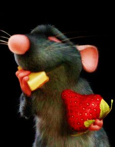 GIF: Me chifla el queso Pixar Movies, Disney Movies, Disney Pixar, Animated Cartoons, Animated Gif, Video Humour, Gif Humour, Animation, Disney Food