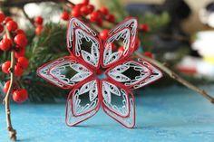 Fiocco di neve di CHAMONIX carta quilled regalo di OrnamentHouse