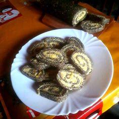 Narancsos-mákos keksztekercs Pancakes, French Toast, Muffin, Cookies, Breakfast, Food, Candy, Crack Crackers, Morning Coffee