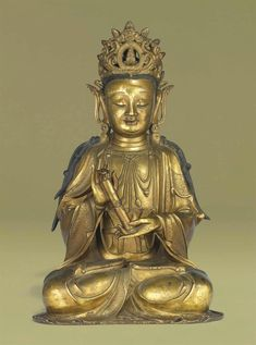 A rare gilt-bronze figure of Guanyin, Ming dynasty, 17th century