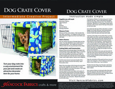 Dog Crate Cover!