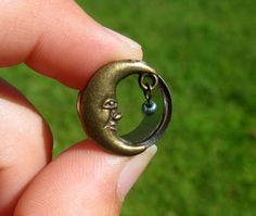 "Pair of Antique Brass Moon Tunnels with Beads - Girly Plugs - Feminine Gauges - 7/16"", 1/2"", 9/16"" (11mm, 12mm, 14mm) - Boho - Bohemian by WhimsyByKrista on Etsy https://www.etsy.com/listing/238434671/pair-of-antique-brass-moon-tunnels-with"