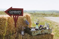 So serene. Like taking a walk back to summers on your Grandma's farm! Love this DIY ceremony sign for a rustic wedding