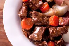 """Beef Braised in Guinness Recipe  Adapted from """"Cooking with Friends"""" by Trish Deseine and Marie-Pierre Morel"""