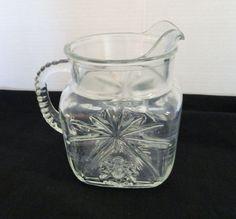 Early American Prescut Glass EAPG Star of David by pluckylucky