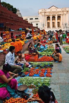 Street market, Kathmandu, Nepal. - Loved the people and the beauty...