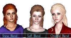 Butterfly 116 hair retextured by SjokoSims - Sims 3 Downloads CC Caboodle
