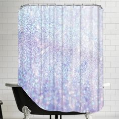 Great for Silver Style Polyester Single Shower Curtain by East Urban Home baby kid teen offer from top store Fancy Shower Curtains, Glitter Shower Curtain, Shower Curtain Rods, Bathroom Gallery, Bathroom Ideas, Bath Ideas, Small Bathroom, Shower Liner