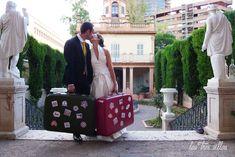 Precioso reportaje fotográfico de Chus y Ramón con nuestros muebles vintage para bodas y eventos
