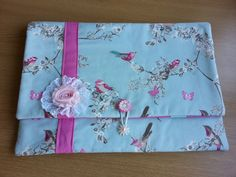 Shabby chic Laptop case Laptop bag to fit a 15 by xHangingHeartsx