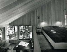 NORMAN JAFFE ARCHITECT - Fischer House, master bedroom with sunken study