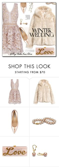 """""""Winter Wedding"""" by aidasusisilva ❤ liked on Polyvore featuring H&M, Charles David, Edie Parker, Pier 1 Imports and winterwedding"""