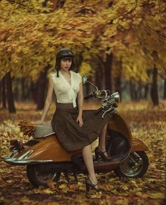 girl and retro scooter by David Dubnitskiy - Photo 126894847 / Scooter Girl, Retro Scooter, Vespa Girl, Retro Roller, David Dubnitskiy, Vespa Lambretta, Motor Scooters, Vespa Scooters, Erotic Photography