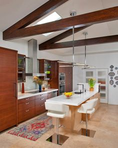 Mt. Lebanon kitchen with vaulted ceiling and skylight