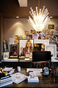 a peek inside: jennifer fisher's soho office entire wall of covered cork board?