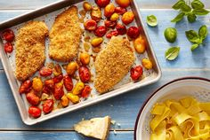 """Sheet Pan Chicken Parmesan 