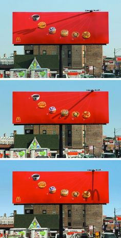 Brilliant Sundial Billboard Hate mcdonalds but maybe there are some brains behind it all