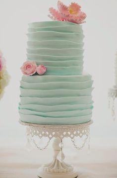 Lovely, elegant, feminine: birthday, garden party, tea, shower - this cake takes the cake!