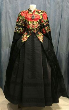 Folk Costume, Costumes, European Dress, Folk Clothing, Aragon, Ethnic Fashion, Traditional Dresses, Feminine, Shirt Dress