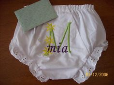 Mighty cute... love monogrammed baby stuff